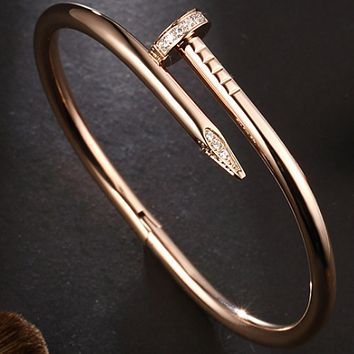 Cartier star with a nail couple bracelet diamond bracelet Rose gold
