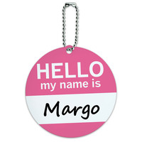 Margo Hello My Name Is Round ID Card Luggage Tag