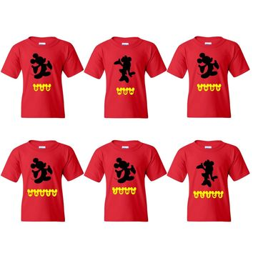 TurnTo Designs - Disney Mickey Minnie Family Set  Vacation Shirts with Names