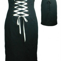 Gothic style pencil skirt