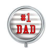 #1 Dad Number One Father Pill Box