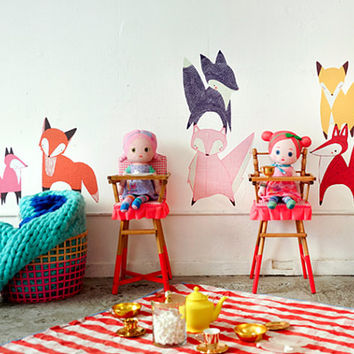 Friendly Foxes Wall Decals (Set of 7)
