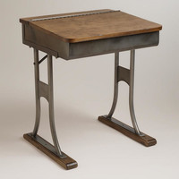 Gunmetal Schoolhouse Desk | World Market