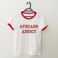 Avocado t shirt women ladies girls tee top hipster instagram tumblr grunge fun swag dope punk cute teen fashion outfit