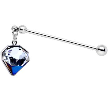 Big Bling Industrial Barbell 36mm Created with Swarovski Crystals