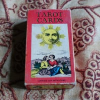 Vintage pack of fortune telling tarot cards