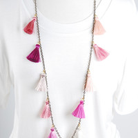 The Stevie Necklace - Pink Multi