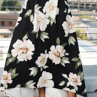 What Dreams Are Made Of Floral Skirt (Black)