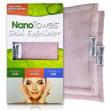 Nano Towel Makeup Remover Face Cloth. Remove Cosmetics FAST and Chemical Free. Wipes Away Facial...