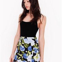 Printed Crepe Canyon Skirt | American Apparel