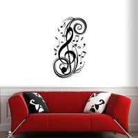 BIG MUSIC NOTES ver2 Wall Decals by 7decals on Etsy