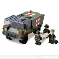 Military Field Ambulance - Lego Compatible