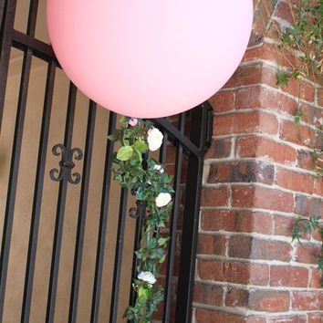 36 inch Pink Balloon with Ivy Garland - Wedding, Shower, Party Decoration