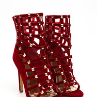 Entrapment Studded Caged Booties GoJane.com
