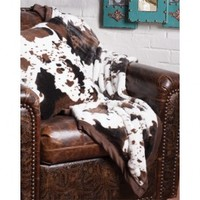 Faux Cowhide Throw