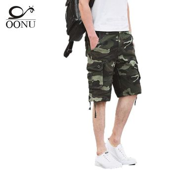 OONU Quality-guaranteed Military Green Camouflage/Camo Men Shorts Casual Multicam Bermuda Military Cargo Shorts 29-44
