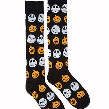 Pumpkin Jack Skellington Knee High Socks - The Nightmare Before Christmas - Spirithalloween.com