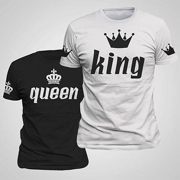 GoBliss King Queen Lovers T-Shirt