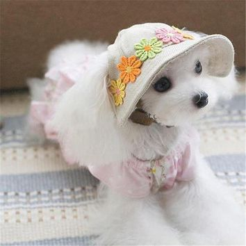 Pet Products Dog Hat Winter Summer Beach Hats For Dogs Costume Accessories Cute Pet Hat PT0943