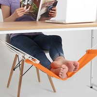 Desk Feet Hammock For Comfortable Your Feet Office Home Foot Rest Hanging Unique Foot Hammock Foot Rest For Your Tired Legs (Size: 65.5cm by 15.5cm, Color: Orange)