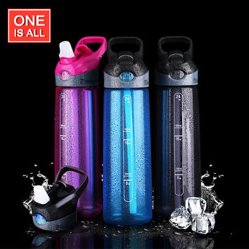 700ML My Water Bottle Sports Straw Bottles For Water Plastic Water Cup Portable Handle Bike Tumbler Tritan Drinking Brand bottle
