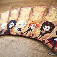 Set of 7 Harry Potter character bookmarks by MadModesty on Etsy