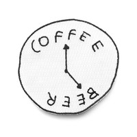 Coffee Beer Clock Patch
