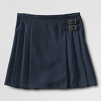 School Uniform Side Buckle Skirt (Above The Knee) from Lands' End