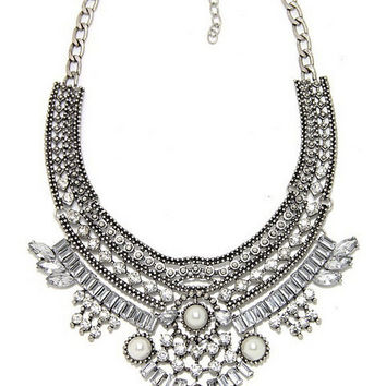New Arrival Gift Shiny Jewelry Accessory Stylish Vintage Pearls Lock Necklace [6586421511]