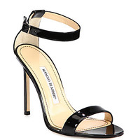 Chaos Patent Leather Ankle-Strap Sandals