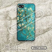 Van Gogh Floral iPhone 5 Case, Oil Painting Flower iPhone 5 5s 5c Hard Case Rubber Case, cover skin case for iPhone 5 5s 5c case