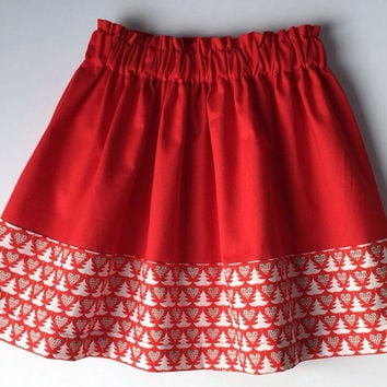 Toddler skirt,  girls skirt, Christmas skirt, Christmas outfits, girls custom skirt, red holiday skirt, red Christmas skirt, custom kids
