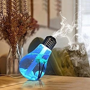 Creative Humidifier USB Portable Desktop LED Color Night Lights Diffuser Mist Air Purifier Office Room Gift