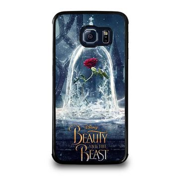 BEAUTY AND THE BEAST ROSE IN GLASS Samsung Galaxy S6 Edge Case Cover