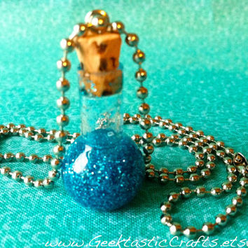 Mermaid Tears/Custom Color Potion Bottle Necklace