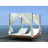 Clevedon Outdoor Patio Canopy Day Bed Lounger daybed By Azzurro Living