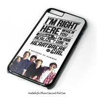 5 Seconds Of Summer With Quotes Design for iPhone and iPod Touch Case