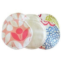 Washable Nursing Pads in Fresh Bloom Modern Floral & Cream