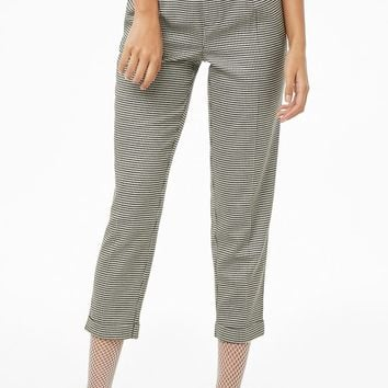 Pleat Front Houndstooth Pants