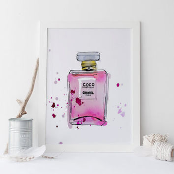 Coco Chanel no.5 Perfum poster art.poster print,prints.wall art,gift idea,fashion perfum bottle.bottle print,perfum bottle poster.chanel art