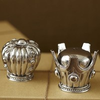 Crowns Salt & Pepper Shakers