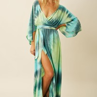 ANGEL SLEEVE MAXI WITH SLITS
