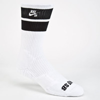 Nike Sb Elite Skate Mens Dri-Fit Crew Socks White/Black One Size For Men 24444916801