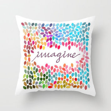 Imagine [Collaboration with Garima Dhawan] Throw Pillow by Galaxy Eyes | Society6