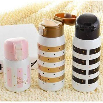 Cute Lovers Thermo Mug Stainless Steel Vacuum Flasks Thermos Coffee cup Travel Insulated Thermocup Thermal Water Bottle