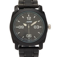Aeropostale  Mens Metal Analog Watch - Black, One