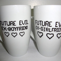 Scott Pilgrim Future Evil Ex-BF/GF Couple Mug Set
