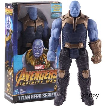 Titan Hero Series Marvel Avengers 3 Infinity War Thanos Action Figure Toy PVC Collectible Model Toys for Children