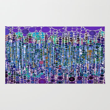 :: Purple Rain :: Area & Throw Rug by GaleStorm Artworks | Society6