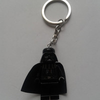 Star Wars Darth Vader  minifigure keychain keyring made with LEGO® bricks